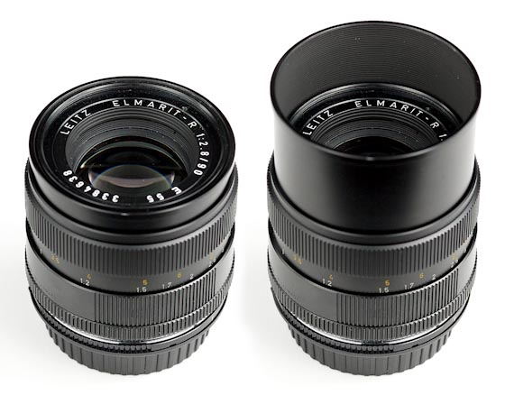 Leica Elmarit-R 90mm f/2.8 - Integrated lens hood